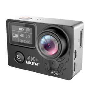 Экшн камера Eken H5s Plus 4K с пультом