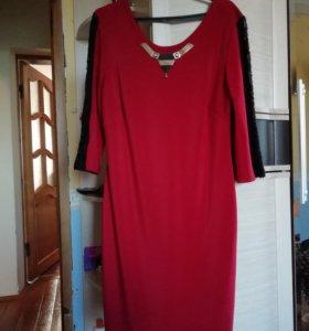 Платье красное. 50р