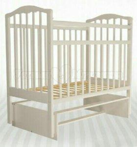 Детская кроватка с ортопедическим матрасом