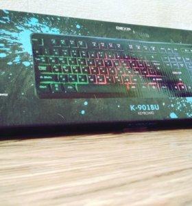 Неоновая клавиатура с подсветкой DEXP