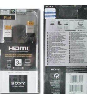 Новый в упаковке HDMI кабель Sony 3 метра Ростест