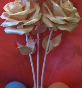 цветы ручной работы из Изолона , ростовые цветы
