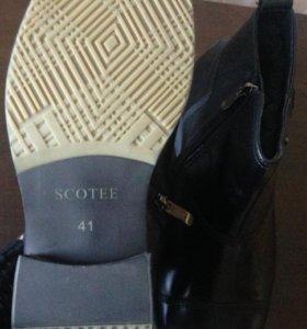 ботинки новые зимние мужские черные 41 размер