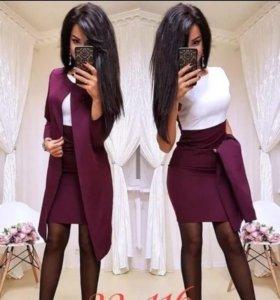 Платье с плащем