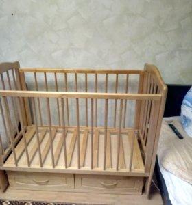 """Кроватка с маятником """"Можга""""и ортопедич. матрас"""