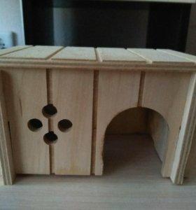 Домик деревянный для хомяка