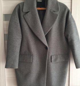 Пальто двубортное, оверсайз, тёплое, размер М