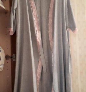 Комплект халат+сорочка для беременной/кормящей