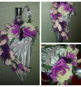 подарок ручной работы конфеты в цветах