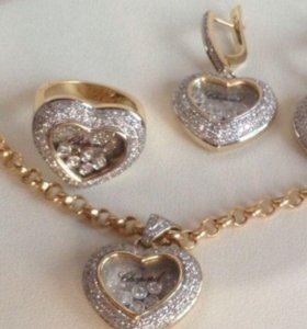 Золотой комплект шопард с бриллиантами