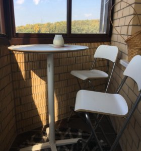 Барный стол и два складных стула икеа