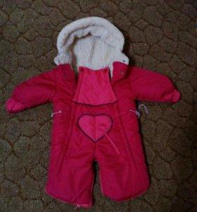 Зимний очень теплый комбинезон на ребенка до года