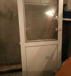 Пластиковая дверь 75х185