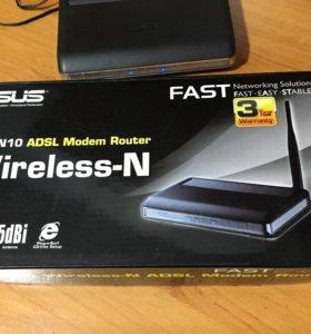 Wi-Fi-роутер asus DSL-N10 (adsl + Ethernet )