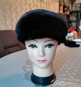 Зимняя кепка из меха финской норки