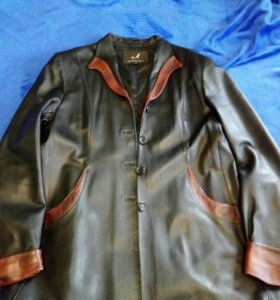 Куртка кожаная женская демисезонная