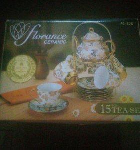 Новый чайный набор из 15предметов
