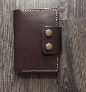 Бумажник из нат.кожи с отделом для паспорта