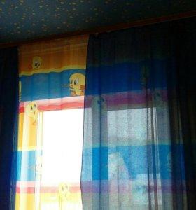 Шторы и тюль на 2 окна
