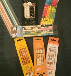 Карандаши, ручки , фломастеры из кореи