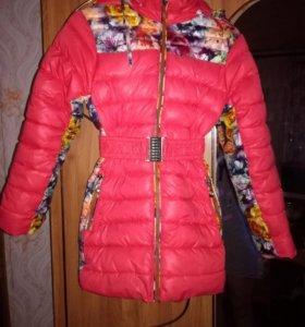 Осенняя куртка для девочки 6-7 лет