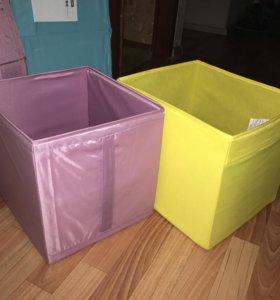 Дрёна и Скубб коробки из икеа