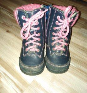 Демисезонные кожаные ботинки Котофей