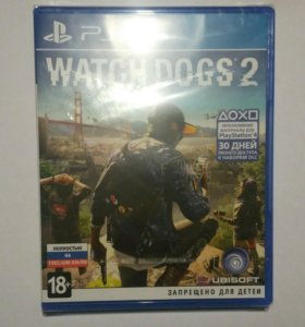 Watch dogs 2 ps4 Новая, в пленке