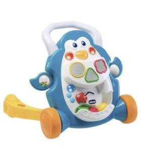 Каталка-ходунки Chicco пингвин со звуковым