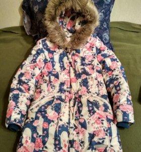 Пальто-парка зимняя для девочки