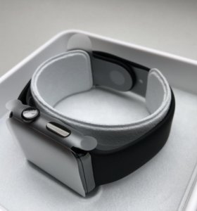 Сталь Apple Watch 2 черные 42мм комплект с чеком