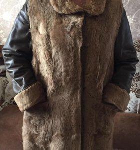 Пальто дубленка кожа позлик