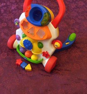 Детские ходунки-каталка Chicco Игровой центр 2 в 1
