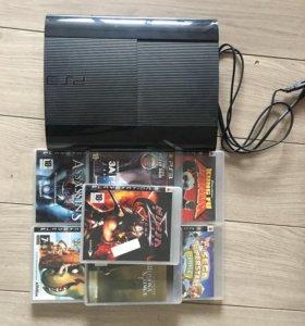 PlayStation3 slim 500MB + 6 games