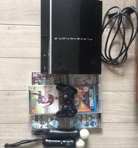 PlayStation 3 37GB, игры, джойстики и геймпад
