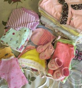 Пакет вещей на девочку 0-3