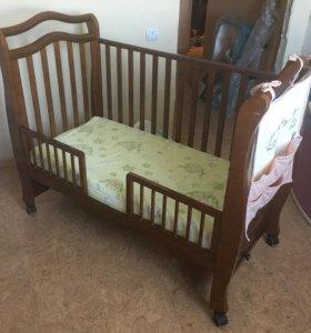 Детская кроватка Giovanni с пеленальным столиком