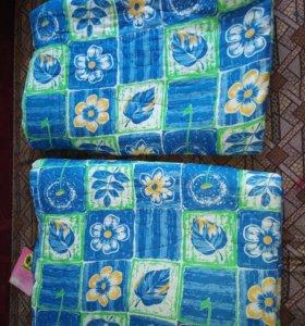 Одеяла, ватные 2шт, шерстяные 2шт