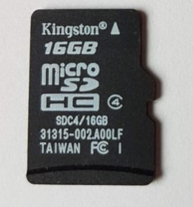Карта памяти MicroSDHC Kingston 16 Gb 4 класс