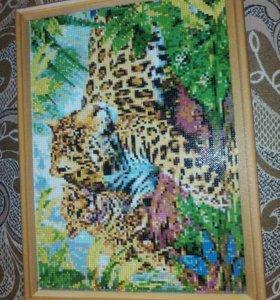 Картина леопарды