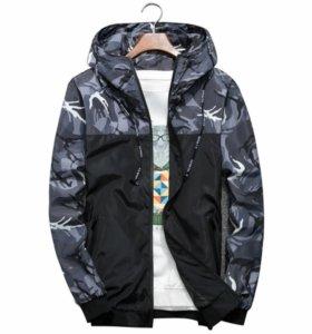 Куртка ветровка спортивная камуфляж