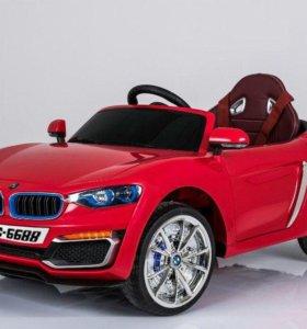 Новый электромобиль bmw красный
