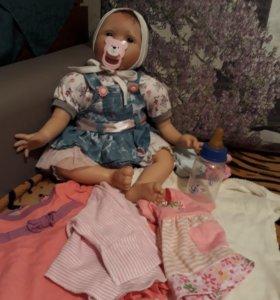 Кукла реборн с кроваткой