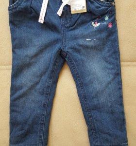 Новые утепленные флисом джинсы Mothercare
