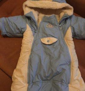 Зимний конверт для младенца, 100% шерсть
