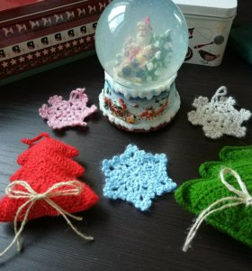 Украшения для дома к Новому году (елочные игрушки)