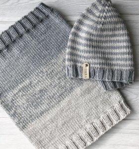 Комплект шапка + снуд (хлопок/кашемир)