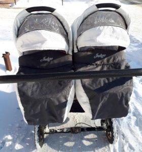 Коляска зима-лето для двойни или близнецов