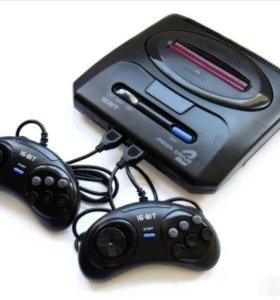 Игровая приставка sega mega drive 2 16bit