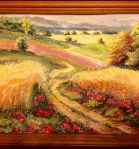 Картина Цветы в поле